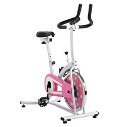 pink spinning bike